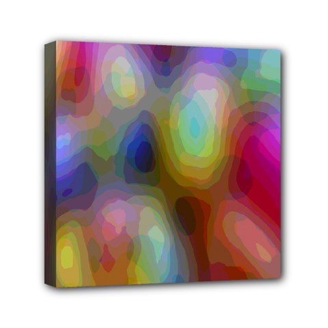 A Mix Of Colors In An Abstract Blend For A Background Mini Canvas 6  X 6