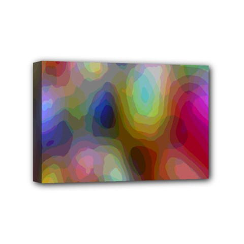 A Mix Of Colors In An Abstract Blend For A Background Mini Canvas 6  X 4