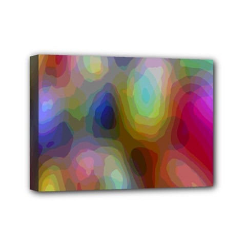 A Mix Of Colors In An Abstract Blend For A Background Mini Canvas 7  X 5