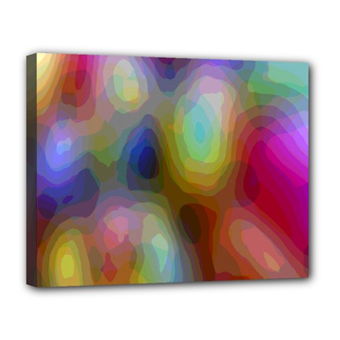 A Mix Of Colors In An Abstract Blend For A Background Canvas 14  X 11