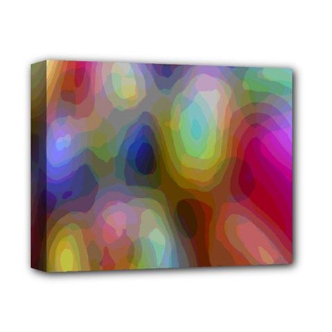 A Mix Of Colors In An Abstract Blend For A Background Deluxe Canvas 14  X 11