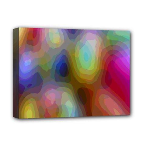 A Mix Of Colors In An Abstract Blend For A Background Deluxe Canvas 16  X 12