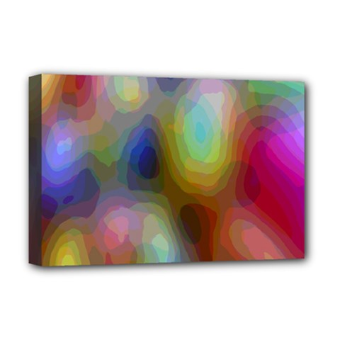 A Mix Of Colors In An Abstract Blend For A Background Deluxe Canvas 18  X 12