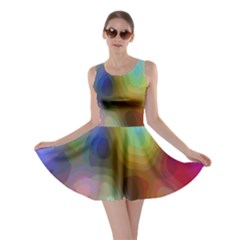 A Mix Of Colors In An Abstract Blend For A Background Skater Dress