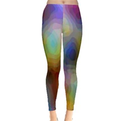 A Mix Of Colors In An Abstract Blend For A Background Leggings