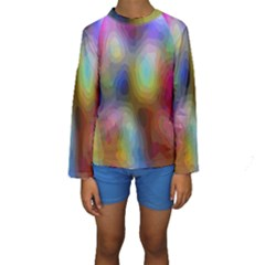 A Mix Of Colors In An Abstract Blend For A Background Kids  Long Sleeve Swimwear