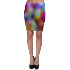A Mix Of Colors In An Abstract Blend For A Background Bodycon Skirt