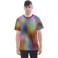 A Mix Of Colors In An Abstract Blend For A Background Men s Sport Mesh Tee