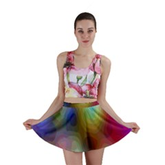A Mix Of Colors In An Abstract Blend For A Background Mini Skirt