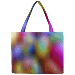 A Mix Of Colors In An Abstract Blend For A Background Mini Tote Bag