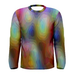 A Mix Of Colors In An Abstract Blend For A Background Men s Long Sleeve Tee