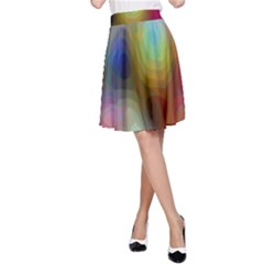 A Mix Of Colors In An Abstract Blend For A Background A Line Skirt