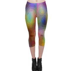 A Mix Of Colors In An Abstract Blend For A Background Capri Leggings