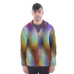 A Mix Of Colors In An Abstract Blend For A Background Hooded Wind Breaker (men)