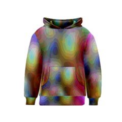 A Mix Of Colors In An Abstract Blend For A Background Kids  Pullover Hoodie