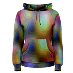 A Mix Of Colors In An Abstract Blend For A Background Women s Pullover Hoodie