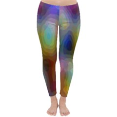 A Mix Of Colors In An Abstract Blend For A Background Classic Winter Leggings