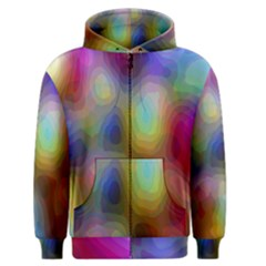 A Mix Of Colors In An Abstract Blend For A Background Men s Zipper Hoodie