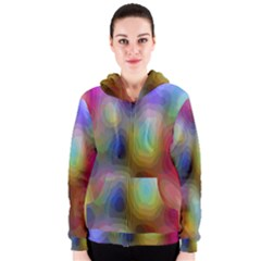 A Mix Of Colors In An Abstract Blend For A Background Women s Zipper Hoodie