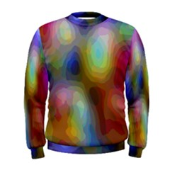 A Mix Of Colors In An Abstract Blend For A Background Men s Sweatshirt