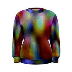 A Mix Of Colors In An Abstract Blend For A Background Women s Sweatshirt
