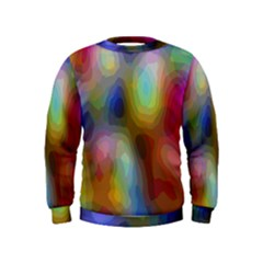 A Mix Of Colors In An Abstract Blend For A Background Kids  Sweatshirt