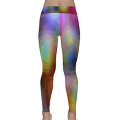 A Mix Of Colors In An Abstract Blend For A Background Classic Yoga Leggings