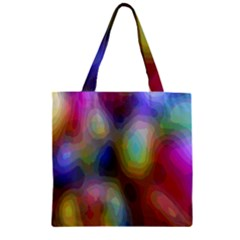 A Mix Of Colors In An Abstract Blend For A Background Zipper Grocery Tote Bag