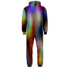 A Mix Of Colors In An Abstract Blend For A Background Hooded Jumpsuit (men)