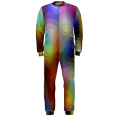 A Mix Of Colors In An Abstract Blend For A Background OnePiece Jumpsuit (Men)