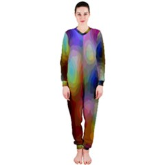A Mix Of Colors In An Abstract Blend For A Background Onepiece Jumpsuit (ladies)