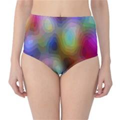 A Mix Of Colors In An Abstract Blend For A Background High-Waist Bikini Bottoms