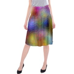 A Mix Of Colors In An Abstract Blend For A Background Midi Beach Skirt