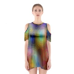 A Mix Of Colors In An Abstract Blend For A Background Shoulder Cutout One Piece