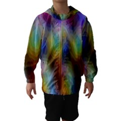 A Mix Of Colors In An Abstract Blend For A Background Hooded Wind Breaker (kids)