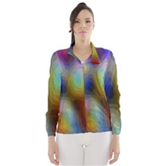 A Mix Of Colors In An Abstract Blend For A Background Wind Breaker (Women)