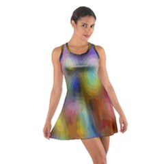 A Mix Of Colors In An Abstract Blend For A Background Cotton Racerback Dress