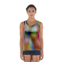 A Mix Of Colors In An Abstract Blend For A Background Women s Sport Tank Top