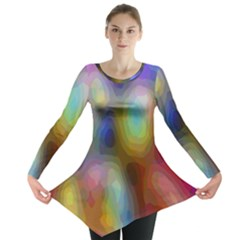 A Mix Of Colors In An Abstract Blend For A Background Long Sleeve Tunic