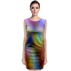 A Mix Of Colors In An Abstract Blend For A Background Classic Sleeveless Midi Dress