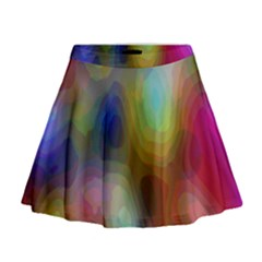 A Mix Of Colors In An Abstract Blend For A Background Mini Flare Skirt