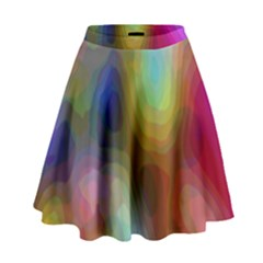 A Mix Of Colors In An Abstract Blend For A Background High Waist Skirt