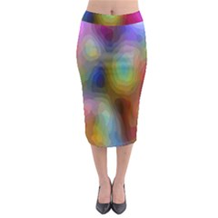 A Mix Of Colors In An Abstract Blend For A Background Midi Pencil Skirt