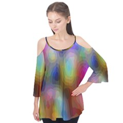 A Mix Of Colors In An Abstract Blend For A Background Flutter Tees
