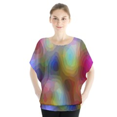 A Mix Of Colors In An Abstract Blend For A Background Blouse
