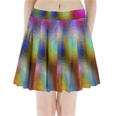 A Mix Of Colors In An Abstract Blend For A Background Pleated Mini Skirt
