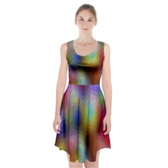 A Mix Of Colors In An Abstract Blend For A Background Racerback Midi Dress