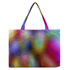 A Mix Of Colors In An Abstract Blend For A Background Medium Zipper Tote Bag