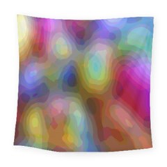 A Mix Of Colors In An Abstract Blend For A Background Square Tapestry (large)