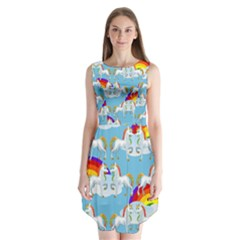 Rainbow pony  Sleeveless Chiffon Dress